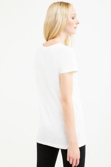 T-shirt puro cotone stampa Cenerentola, Bianco, hi-res