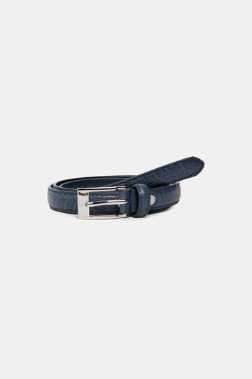 Faux leather belt, Blue, hi-res