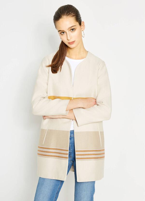 Striped coat in 100% cotton | OVS