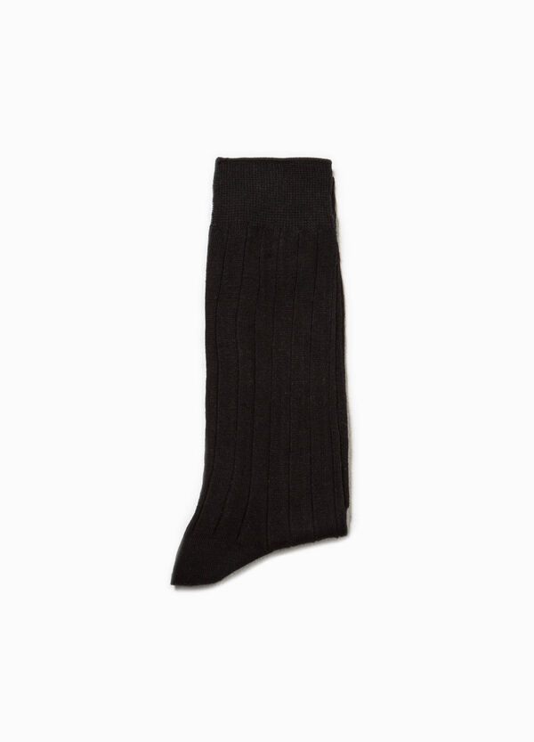 Solid colour short ribbed socks | OVS