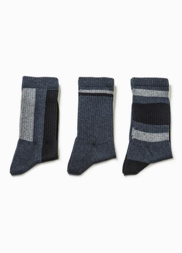 Set tre paia di calze corte a costina   OVS