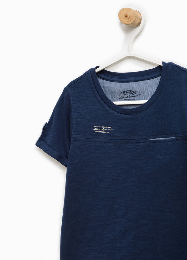 100% cotton T-shirt with pocket | OVS