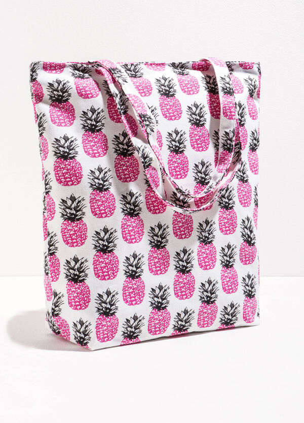 Patterned cotton shopping bag | OVS