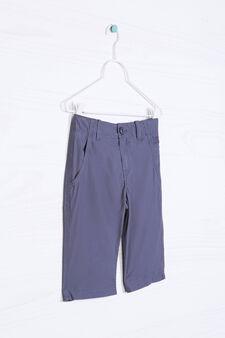 Plain cotton Bermuda shorts, Slate Grey, hi-res