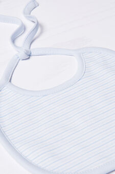 Two-pack bibs in 100% cotton, Light Blue, hi-res
