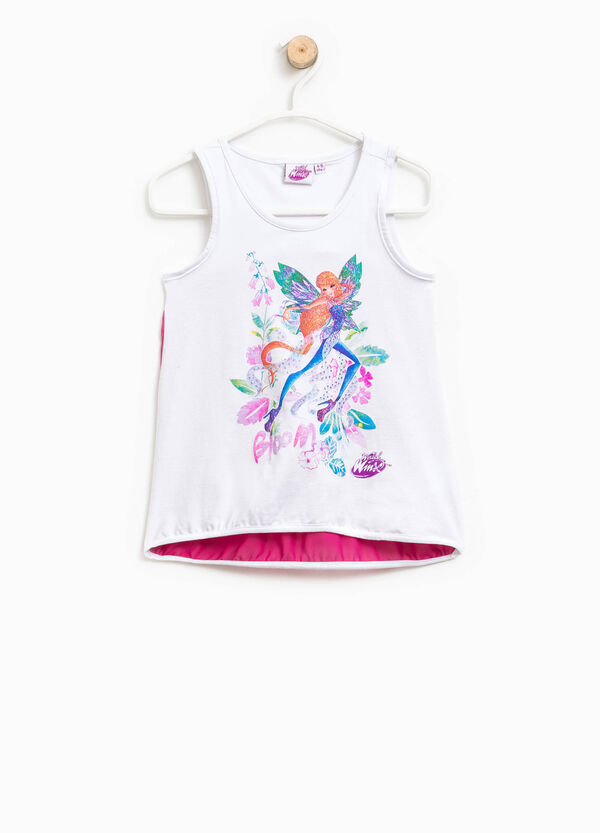 Stretch cotton top with Winx print | OVS