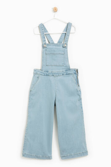 Stretch denim dungarees, Light Wash, hi-res