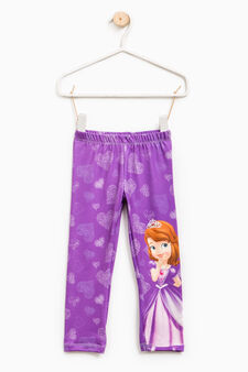 Sofia the First print leggings, Purple, hi-res