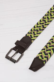Woven rope belt, Lemon Yellow, hi-res