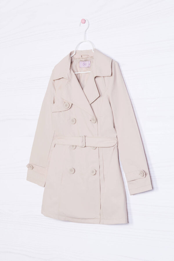 Solid colour cotton blend trench | OVS