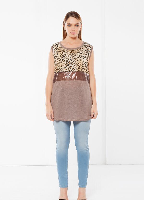 T-shirt Curvy animalier | OVS