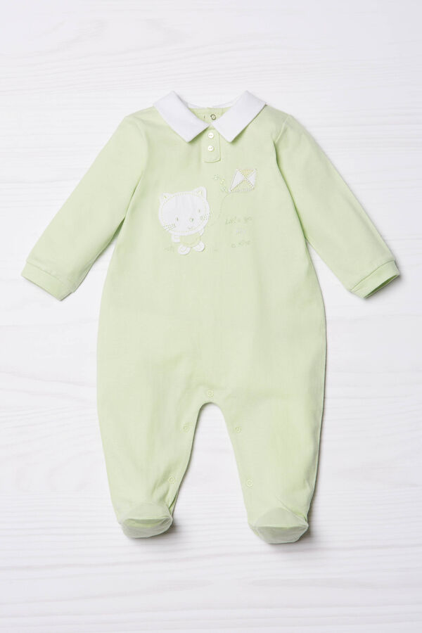 Pure cotton onesie with feet | OVS
