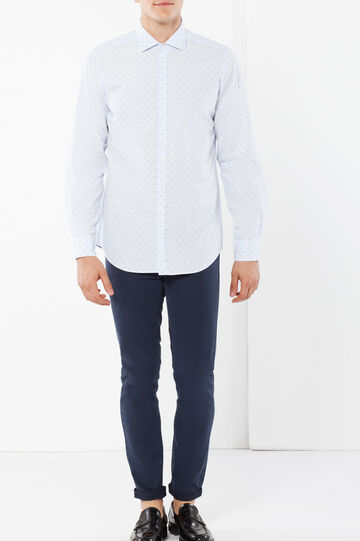 Camicia Rumford slim fit, Bianco/Blu, hi-res