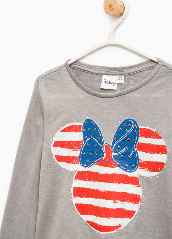 Minnie Mouse T-shirt with diamantés and studs | OVS