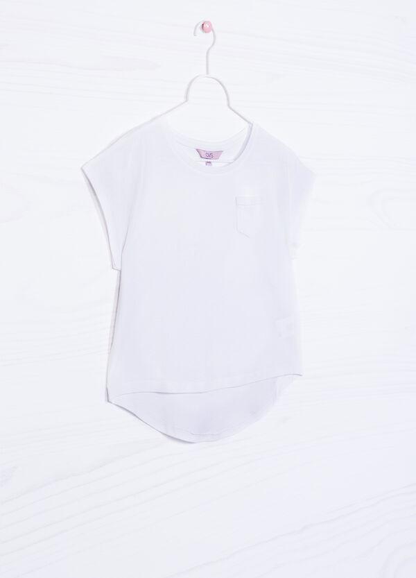 Solid colour T-shirt in 100% cotton | OVS