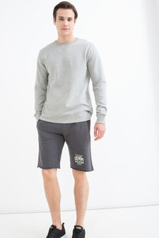 100% cotton mélange sweatshirt, Grey Marl, hi-res
