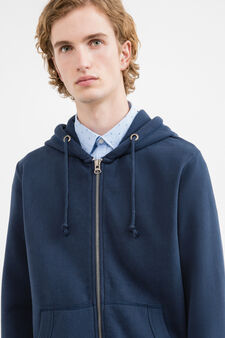 G&H solid colour cotton blend sweatshirt, Denim Blue, hi-res