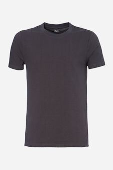T-shirt intima cotone stretch, Grigio scuro, hi-res