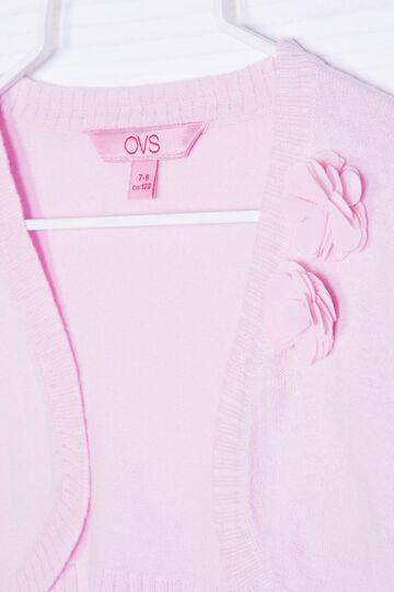 Coprispalle tricot puro cotone, Rosa, hi-res