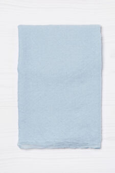 Solid colour scarf with pleated design, Soft Blue, hi-res