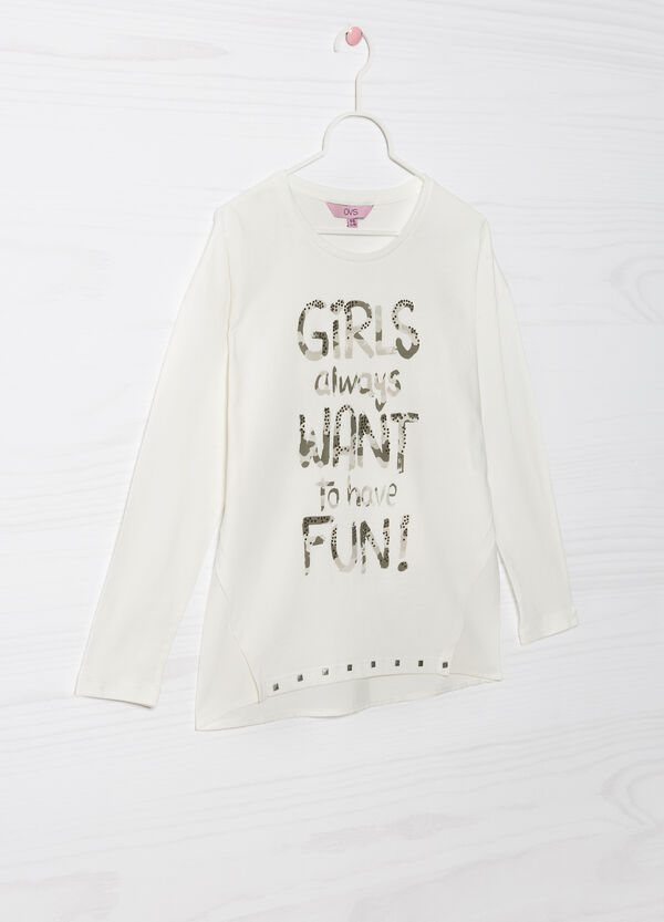 Long-sleeved cotton T-shirt | OVS