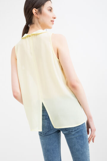 Solid colour sleeveless shirt