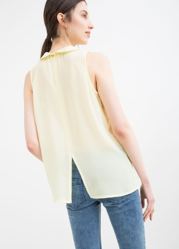 Solid colour sleeveless shirt | OVS