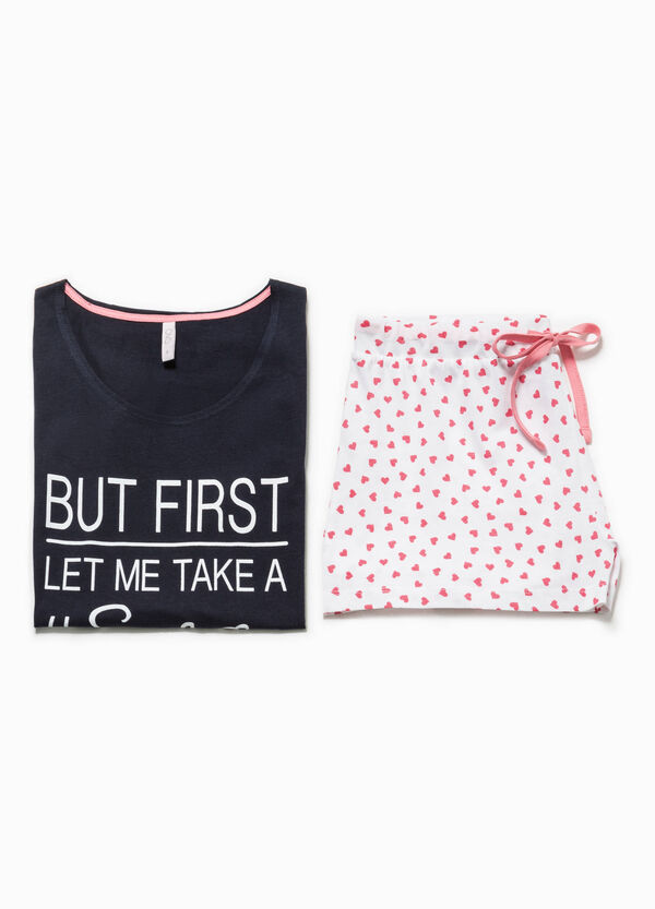 Pyjamas with lettering print and pattern   OVS