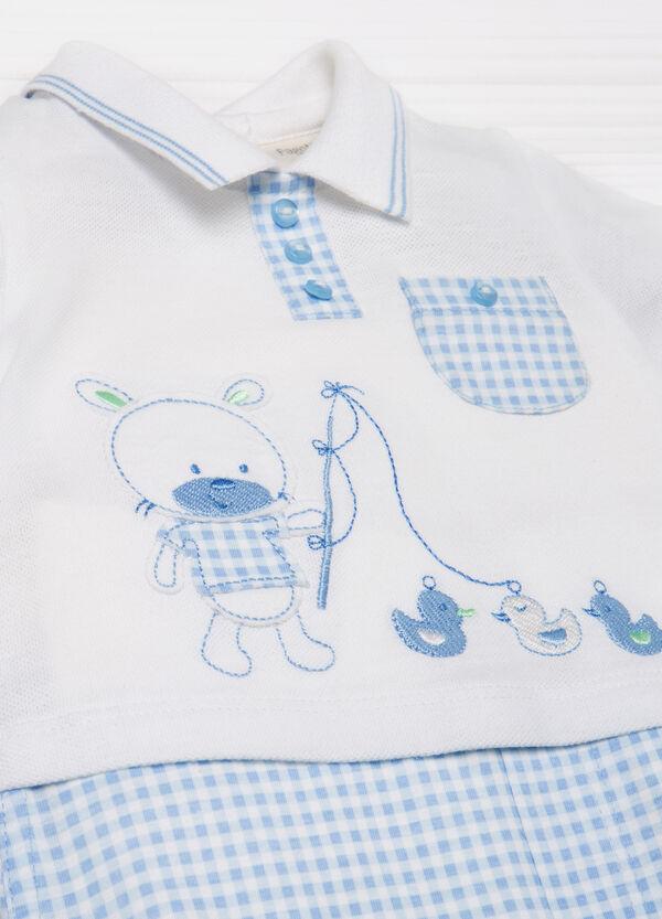 Cotton romper suit with pocket | OVS