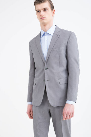 100% cotton, regular-fit jacket, Grey, hi-res