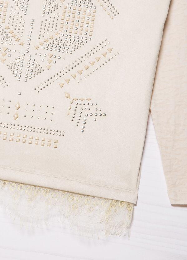 T-shirt con borchie e frange | OVS