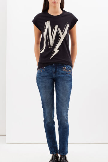 Jeans stretch slim fit, Lavaggio scuro, hi-res