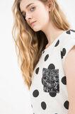 T-shirt puro cotone a righe, Bianco/Nero, hi-res