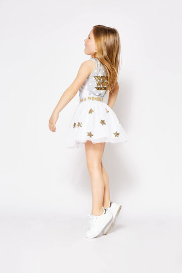 Wonder Woman skirt with star sequins, White/Yellow, hi-res