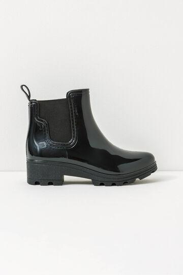 Shiny Wellington boots, Black, hi-res