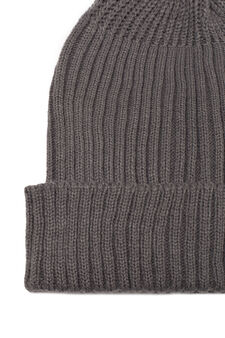 Ribbed beanie cap, Dark Grey, hi-res