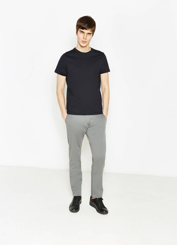 Regular-fit, stretch chino trousers | OVS