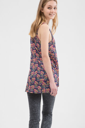 Patterned top in 100% viscose
