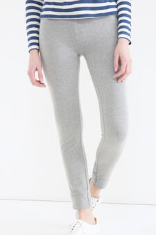Stretch cotton joggers, Grey, hi-res