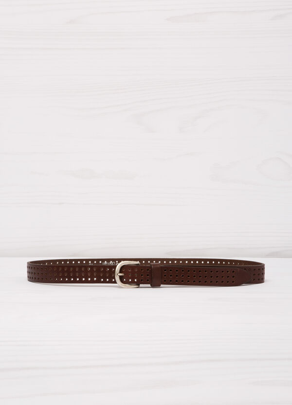 Real leather openwork belt | OVS