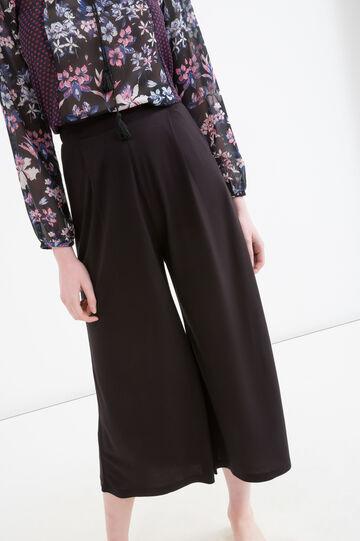 Gaucho pants in 100% viscose, Black, hi-res