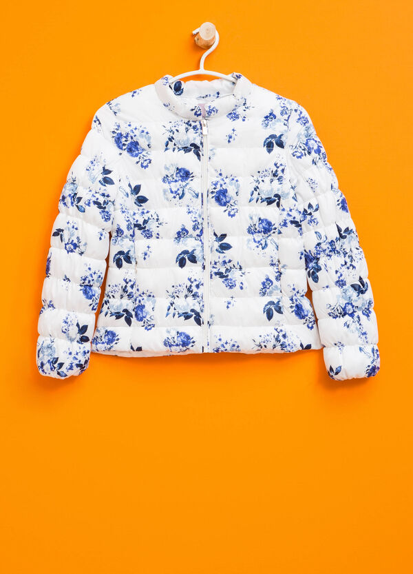 Down jacket with all-over floral print | OVS