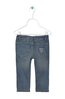 Worn-effect, regular-fit jeans, Denim Blue, hi-res