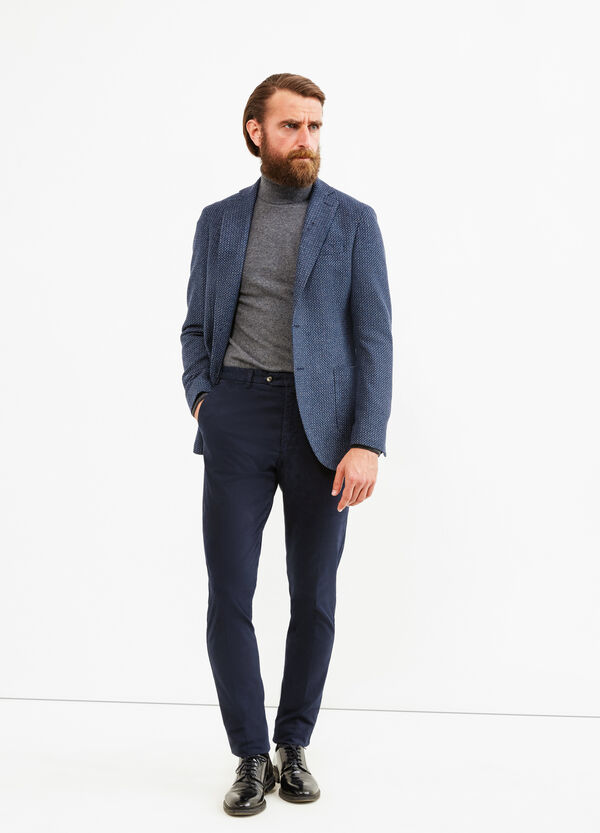 Wool blend Rumford jacket with pattern | OVS