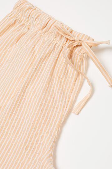 Striped patterned pyjamas in 100% cotton, Light Orange, hi-res