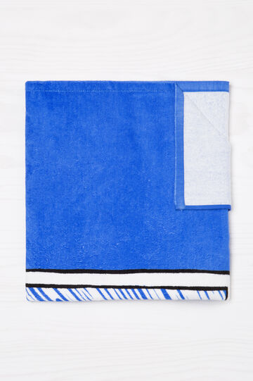 100% cotton beach towel with print.