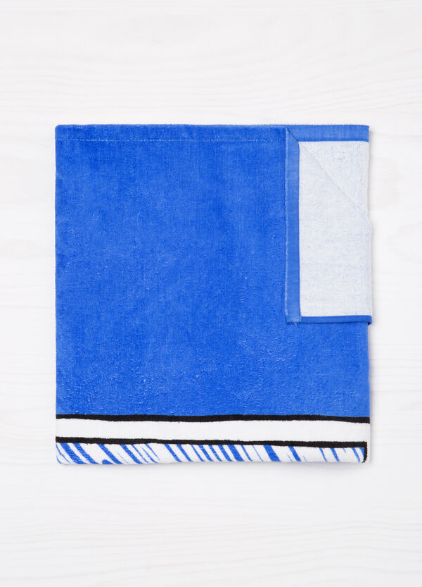 100% cotton beach towel with print. | OVS