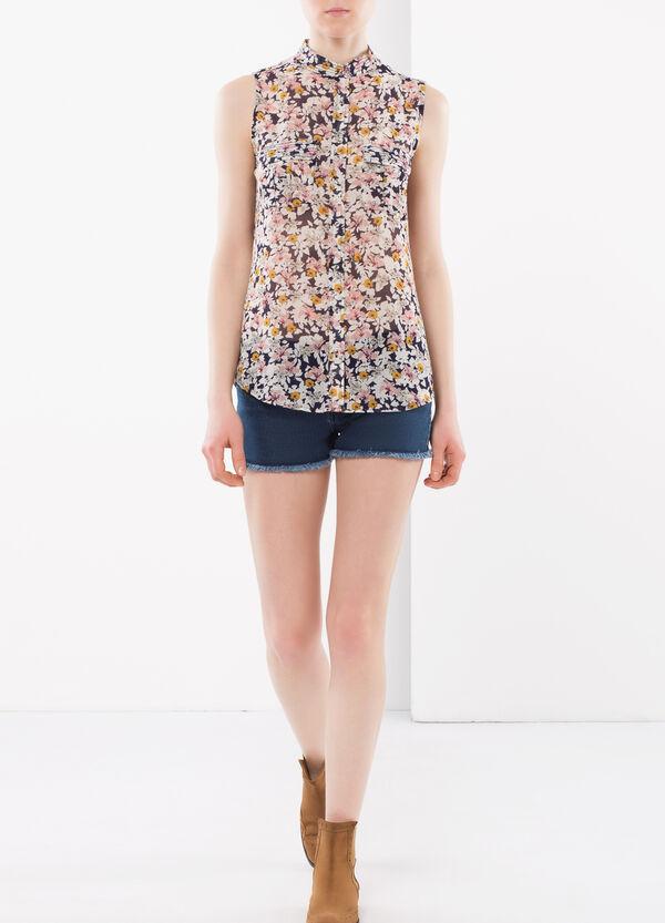 Sleeveless floral shirt | OVS
