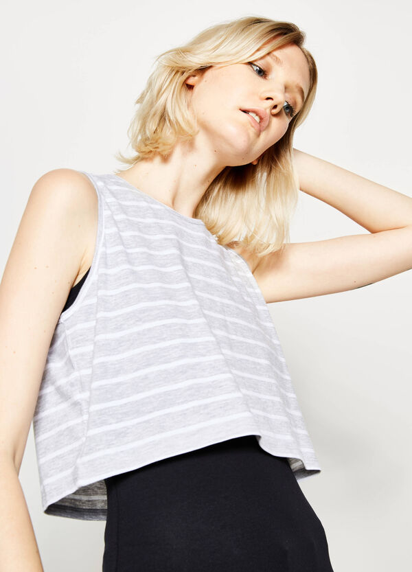 Faux layered striped top | OVS
