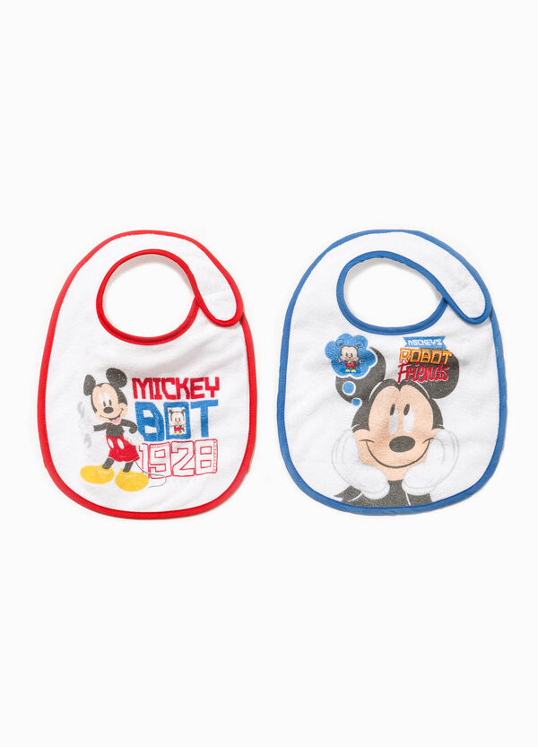 Two-pack cotton bibs with Mickey Mouse print | OVS